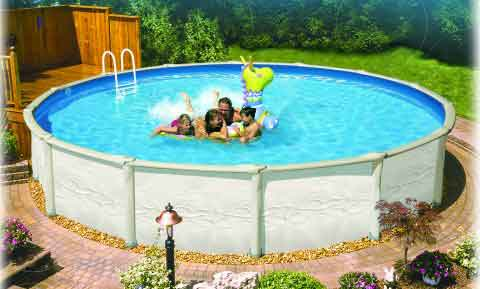 Above Ground Swimming Pool. Above Ground Swimming Pool Designs Of
